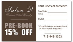 CPS-1000 - salon coupon card