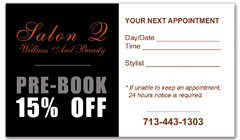 CPS-1001 - salon coupon card