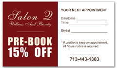 CPS-1002 - salon coupon card