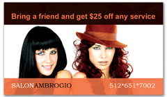 CPS-1010 - salon coupon card