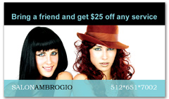 CPS-1011 - salon coupon card