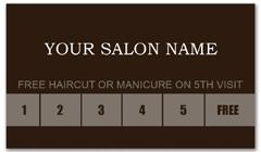 CPS-1013 - salon coupon card
