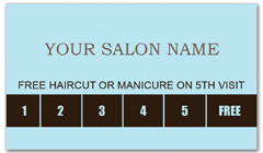 CPS-1014 - salon coupon card