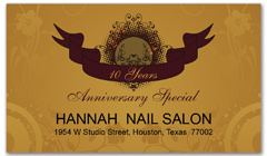 CPS-1071 - salon coupon card
