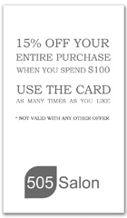 CPS-1086 - salon coupon card