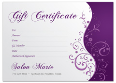 Beauty therapy voucher images frompo 1 for Free printable hair salon gift certificate template