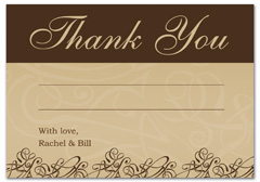 WIR-1001 - wedding thank you and response card