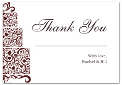WIR-1007 - wedding thank you and response card