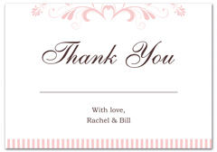 WIR-1016 - wedding thank you and response card