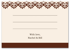 WIR-1020 - wedding thank you and response card
