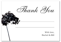 WIR-1028 - wedding thank you and response card