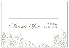WIR-1055 - wedding thank you and response card