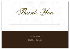 WIR-1067 - wedding thank you and response card