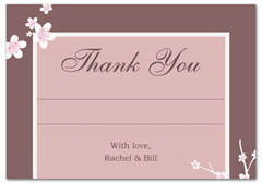 WIR-1076 - wedding thank you and response card