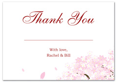 WIR-1082 - wedding thank you and response card