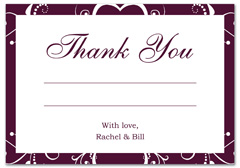 WIR-1091 - wedding thank you and response card