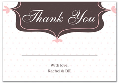 WIR-1106 - wedding thank you and response card