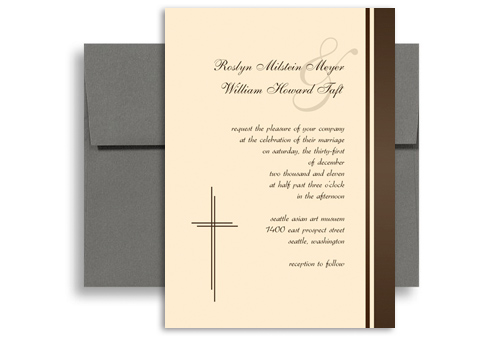 Spiritual Christians Design Blank Wedding Invitation 5x7 in. Vertical