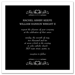 Elegant Creative Square Microsoft Wedding Invite