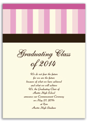 Brown Pink Cream Printable Graduation Announcement