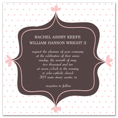 Classy Polka Background Wedding Announcement Samples