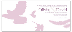 Doves Birds Flying Wedding Announcement Samples